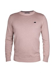 Raging Bull Cotton Cashmere Crew Neck Beige
