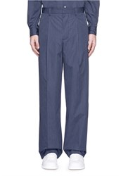 3.1 Phillip Lim Dot Stripe Wide Leg Poplin Pants Blue