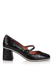 Red Valentino Mary Jane Glitter Block Heels