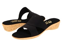 Onex Gilda Black Elastic Women's Sandals