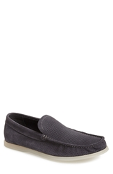 Kenneth Cole Reaction 'Flat Top' Perforated Suede Slip On Men Grey