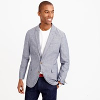 J.Crew Ludlow Summerweight Cotton Linen Blazer In Deep Water