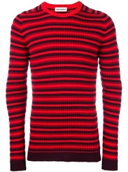 Umit Benan Striped Jumper Red