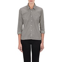 Alexander Olch Women's Stripe Poplin Shirt Black White No Color Black White No Color