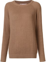 Organic By John Patrick Round Neck Pullover Brown