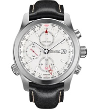 Bremont Bkm Ss Kingsman Special Edition Stainless Steel And Leather Watch White