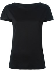 Eleventy Boat Neck T Shirt Black