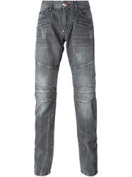Philipp Plein 'No Reason' Slim Fit Jeans Grey