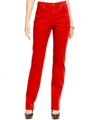 Styleandco. Style Co. Tummy Control Colored Wash Straight Leg Jeans Only At Macy's New Red Amore