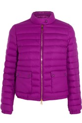 Moncler Actea Quilted Cashmere Down Jacket Magenta