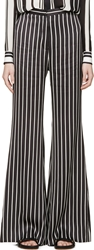 Balmain Black And White Striped Flared Trousers