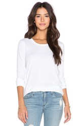 James Perse Pleated Back Long Sleeve Top White