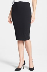 Women's Vince Camuto Stretch Knit Midi Tube Skirt Rich Black
