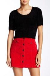 American Apparel Fuzzy Crop Sweater Black