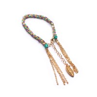 Miss High And Low Fine Mint Bracelet Gold Gold Green Pink