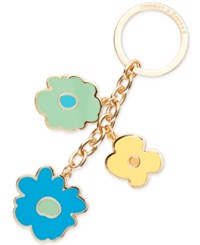 Dooney And Bourke Somerset Floral Charm Key Fob Aqua
