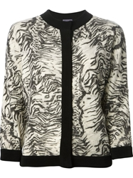 Emanuel Ungaro Printed Cardigan Nude And Neutrals