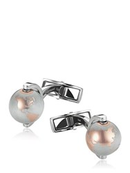 Montblanc Globe Stainless Steel And Alu Cufflinks