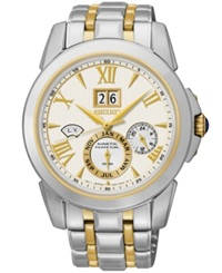 Seiko Men's Le Grand Sport Kinetic Two Tone Stainless Steel Bracelet Watch 42Mm Snp066