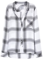 Rails Hunter Monochrome Plaid Flannel Shirt White And Black