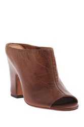Nicole Loopey Peep Toe Heel Brown