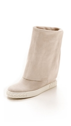 Casadei Reena Fold Over Boots Bianco