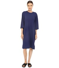 Yohji Yamamoto Elegant Track Dress Night Sky Women's Dress Blue