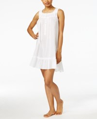 Eileen West Swiss Dot Ruffle Trim Short Nightgown White