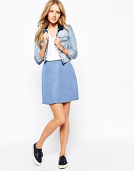 Jack Wills Pleated Mini Skirt Blue