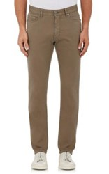 Ermenegildo Zegna Men's Five Pocket Jeans Tan