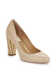 Lauren Ralph Lauren Viona Leather Pumps Ivory