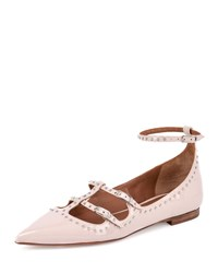 Studded Patent Leather Ballet Flat Nude Pink Givenchy
