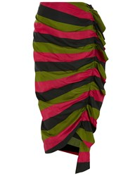 Isa Arfen Tropical Rave Ruched Up Skirt Multi