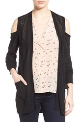Trouve Women's Trouve Cold Shoulder Open Front Cardigan