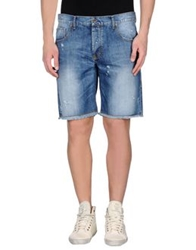 Maison Clochard Denim Bermudas Blue
