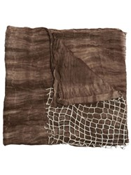 Cutuli Cult 'Eye' Scarf Brown