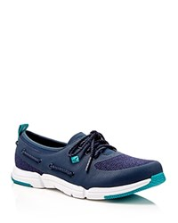 Sperry Ripple Rush Lace Up Sneakers Black Blue