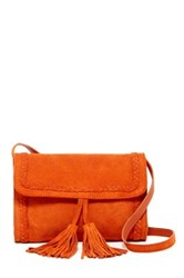 Shiraleah Emma Mini Suede Crossbody Bag Orange