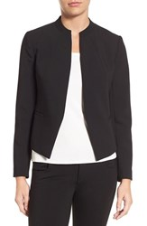 Halogenr Women's Halogen Mandarin Collar Open Front Jacket