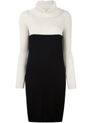 Twin Set Roll Neck Dress Black