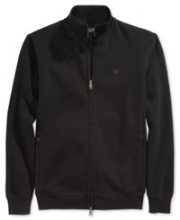 Armani Jeans Men's Two Way Zip Track Jacket With Side Pockets Black