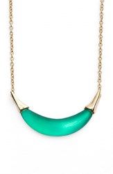 Women's Alexis Bittar 'Lucite' Crescent Pendant Necklace Leaf Green