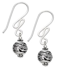 Jody Coyote Squiggle Drop Earrings In Sterling Silver And Silver Plating