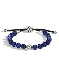 John Hardy Sterling Silver Dot Bead Bracelet With Lapis Blue Silver