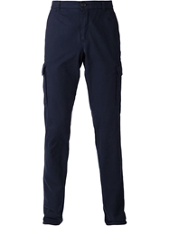 Brunello Cucinelli Slim Fit Cargo Pants Blue