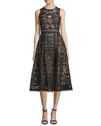 Nanette Lepore Sleeveless Lace Fit And Flare Dress Black