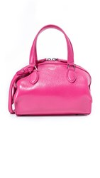 Rochas Leather Bag Bright Pink