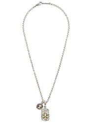 Roman Paul Pendant Chain Necklace Metallic