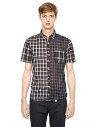 Kolor Patchwork Plaid Cotton Shirt