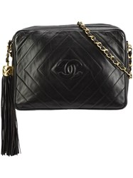 Chanel Vintage Diamond Quilted Camera Bag Black